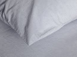 sheet set in pinstripe percale parachute