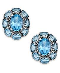blue topaz stud earrings blue topaz earrings shop blue topaz earrings macy s