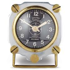 cool desk clocks altimeter table clock aluminum u2014 pendulux