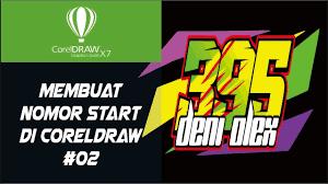 gambar desain nomer racing cara mudah design nomor start racing coreldraw youtube