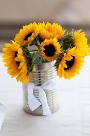 table centerpieces with sunflowers sunflower centerpieces google search wedding ideas pinterest