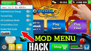 mod apk 8 pool mod menu hack mod apk no root unlimited money and