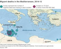 Malta World Map The Mediterranean U0027s Deadly Migrant Routes Bbc News