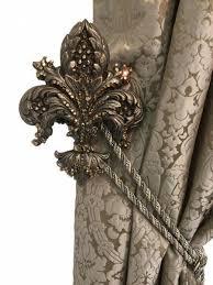 Drapery Medallions Hardware Drapery Medallion Tassel Tie Back Holder Fleur De Lis Jeweled