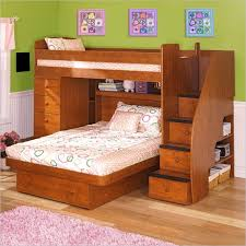 Twin Over Full Bunk Bed With Stairs Sanblasferry - Stairway bunk bed twin over full