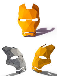 low poly iron man mask by teddpermana 3docean