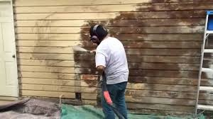 How To Get Paint Off Walls by Dustless Blasting To Strip Paint Off A Wood Siding Home Youtube