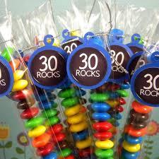 Birthday Favors by 30th Birthday Treat Bag Favors 30 Rocks Set Of 12