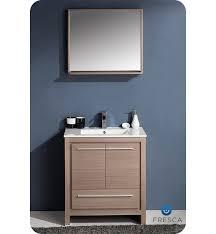 Bathroom Cabinets With Mirror Fresca Allier 30