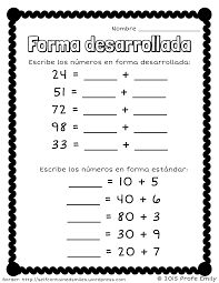 freebie forma desarrollada quick place value worksheet to review