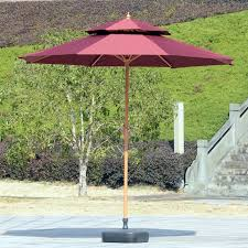 Big Patio Umbrellas by Outdoor Umbrellas Double Top In The Column Umbrella Outdoor Cafe