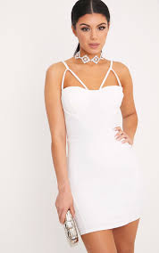 pretty thing dresses white dress white dresses prettylittlething