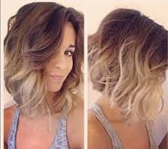 beachy waves for short hair long bob ombre and bobs