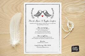 bird wedding invitations birds wedding invitation garden wedding rubymay