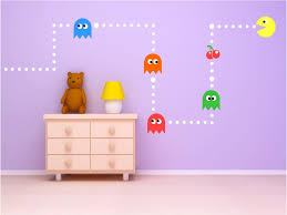 Decoration Kids Wall Decals Home by Wall Art Designs Kids Wall Art Pac Man Classic Game Kids Vinyl