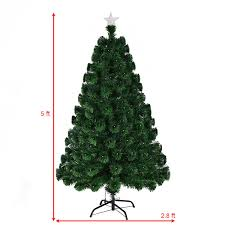 5 6 7 led fiber optic artificial tree with top