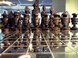 Cool Chess Boards by Beautiful Hand Carved Chess Set In Rosewood And Teak Cool Stuff