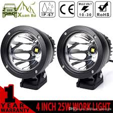 4 inch round led lights xuanba 4 inch 25w round cree led work light for avt offroad 4x4 boat