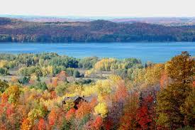 hills viewing fall color traverse mi