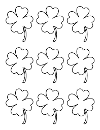 4 leaf clover template four leaf clover template coloring home
