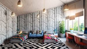 Wallpapers Interior Design by Magnificent 10 Black And Grey Living Room Wallpaper Design Ideas