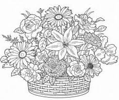 free coloring pages bunch flowers gianfreda net