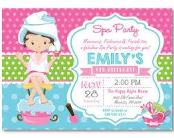 spa party invitation spa birthday party invitation pajama