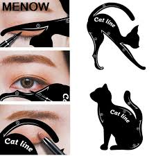 eyeliner stencil cat eyebrow stamping template plastic makeup tool