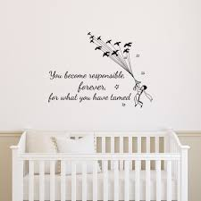 Wall Decals For Baby Boy Nursery Amazon Com Wall Decal Quotes Little Prince You Become Responsible