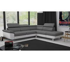 canape gris blanc angle réversible william ii pu blanc gris