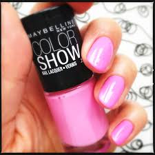 maybelline color show maybelline chiffon chic 85 pink nail