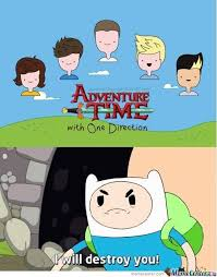 Adventure Time Meme - adventure time with one direction by jacob ripley 566 meme center