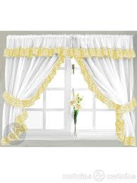White Kitchen Curtains by Gingham Check Yellow U0026 White Kitchen Curtain Yellow Kitchen