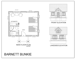 Bunkie Floor Plans by New Maryanne Noffke Projects