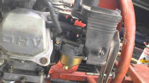 idle adjustment honda gx160 and honda clones youtube