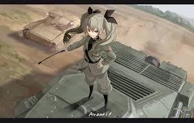 Girls Und Panzer Meme - anime аниме girls und panzer anchovy fami yellow skies anime art