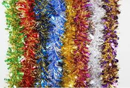 tinsel garland decorations tinsel