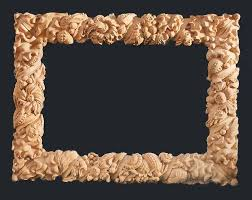 custom wood carved mirror frame by wood carving michael mcconnell