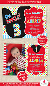 mickey mouse birthday invitation mickey mouse party invitation