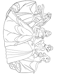 princesses aurora belle cinderella snow white coloring