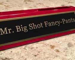 Desk Name Plates With Business Card Holder Desk Plate Etsy