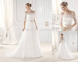 simple but wedding dresses a line tulle simple wedding dresses with beading the shoulder