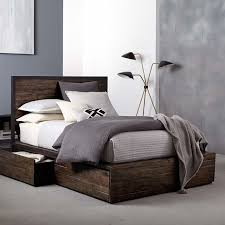 West Elm Bedroom Furniture by Logan Industrial Storage Bed Smoked Brown West Elm