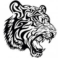 sticker day to day tiger design black wall sticker i