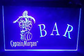captain morgan neon bar light b17 captain morgan logo 2 size beer bar pub club 3d signs led neon