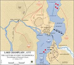 Boston Map 1776 by Of The Battle Of Ticonderoga July 6 1777