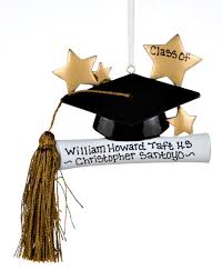 graduate hat and tassel personalized ornament