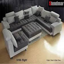 stendmar 5pc new modern gray microfiber big sectional sofa set s150rg