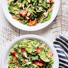 Garden Vegetable Salad by Spring Vegetable And Quinoa Salad With Bacon Recipe Myrecipes