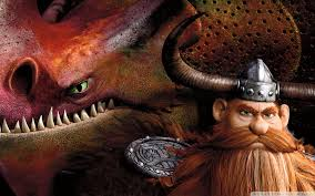 how train your dragon stoick and skullcrusher wide